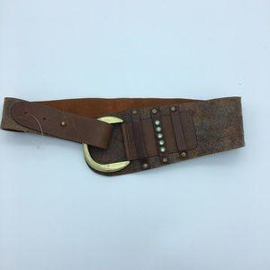 Leatherock wide leather Belt